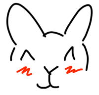 A digital drawing of a blushing bunny  with simple brushes